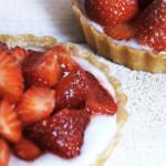 Aardbeien taartjes met amandelmeel