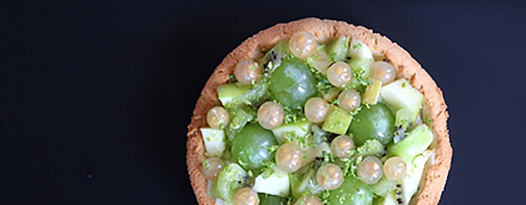 Suikervrij groen fruittaartje
