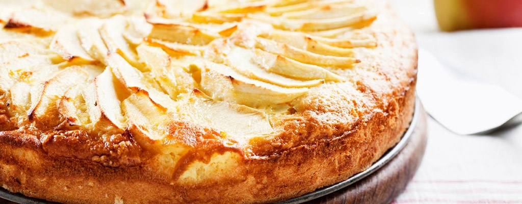 Suikervrije appeltaart met amandelmeel