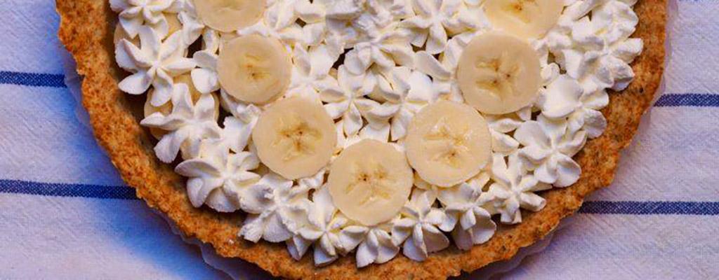 Suikervrije banaan toffee taart