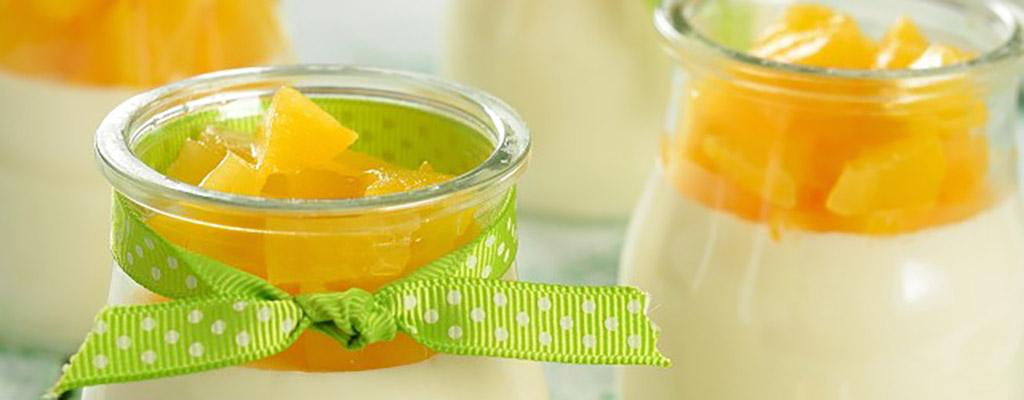 Panna Cotta met vanille en sinaasappel