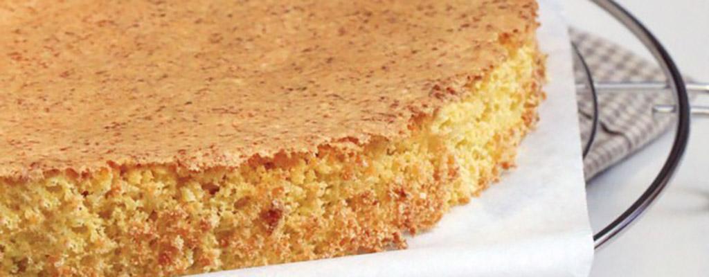Sponscake zonder meel