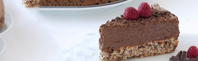 chocolade cake mousse banner