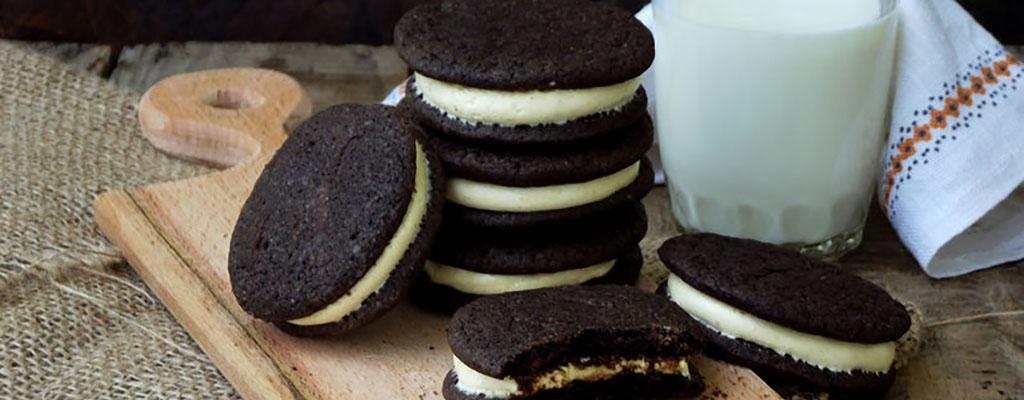 "Glutenvrije en suikerarme ""Oreo"" koekjes"