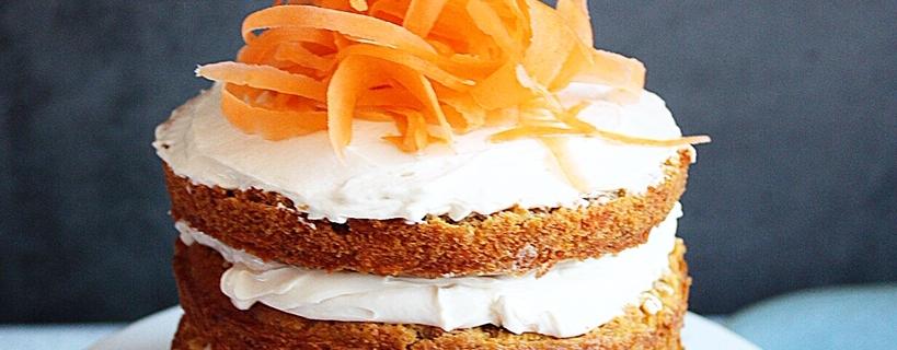 Suikerarme carrot cake van Annabellas Foodblog - Sukrin suikervervangers