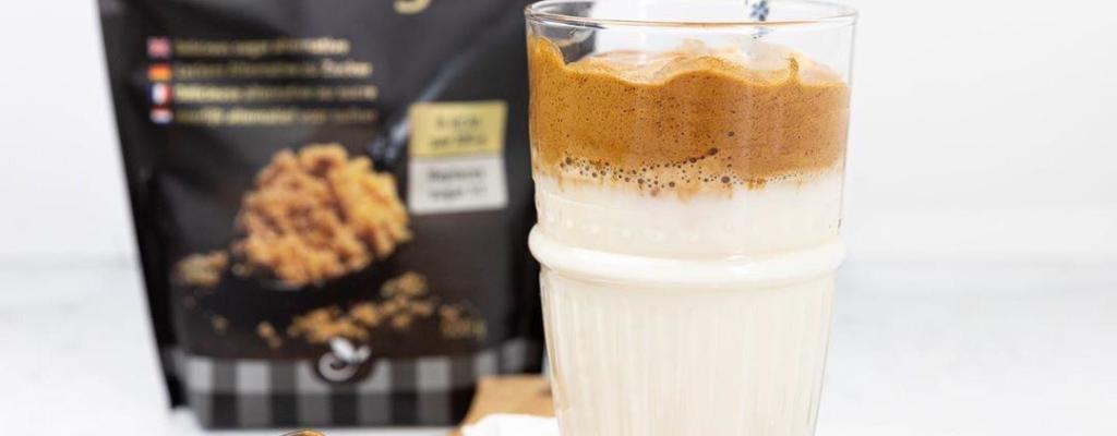 Suikervrije Dalgona koffie