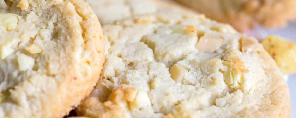 Suikerarme witte chocolade macadamia koekjes