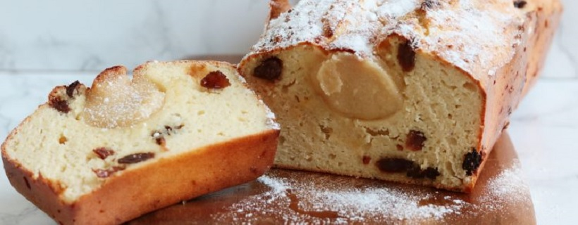Eiwitrijke en glutenvrije kerststolcake